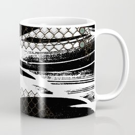 Modern abstract with buttons and Chicken wire Coffee Mug