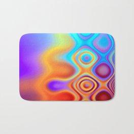 Dots in Motion (warm sunset) Bath Mat