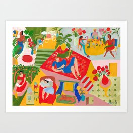 Days at home Art Print