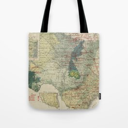 Vintage Map of The Texas Oil and Gas Fields (1920) Tote Bag