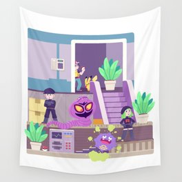 Tiny Worlds - Rocket HQ Wall Tapestry