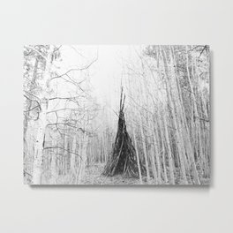 Aspen Teepee Metal Print