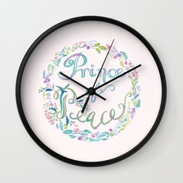 Prince of Peace -Isaiah 9:6 Wall Clock