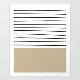 MARINERAS CREAM Art Print
