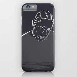 Kendrick Lamar portrait (white on black) iPhone Case