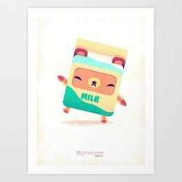 Milk Bear Art Print