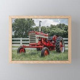 International Harvester Farmall 240 Red Tractor McCormick Deering Framed Mini Art Print