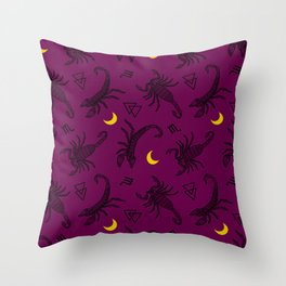 Scorpio Moon - Twilight Throw Pillow