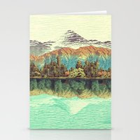 calm Stationery Cards featuring The Unknown Hills in Kamakura by Kijiermono