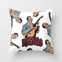 django Throw Pillows featuring Django Reinhardt by Daniel Cash