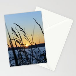 Sunset Sea Grass Stationery Cards