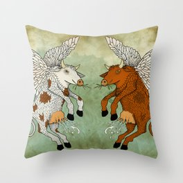 Las vacas voladoras - El día que Throw Pillow
