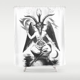 Baphomet - Satanic Church Shower Curtain