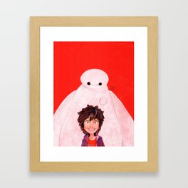 Big Hero 6 - Baymax & Hiro Framed Art Print