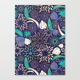 Tropical fireworks Canvas Print