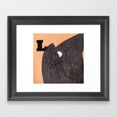 L word Framed Art Print