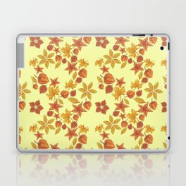 Physalis on light yellow background Laptop & iPad Skin