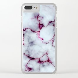 Blood Marble Clear iPhone Case