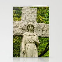 religious Stationery Cards featuring Religious Statue by Michael Moriarty Photography