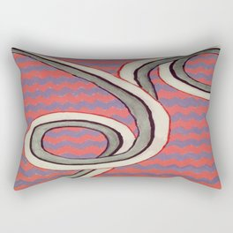 Zig Zag Swirl Rectangular Pillow
