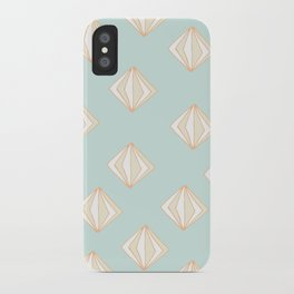 Spinning Gems Mint iPhone Case