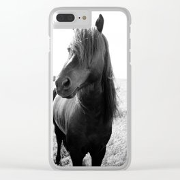 Horse Portrait Clear iPhone Case