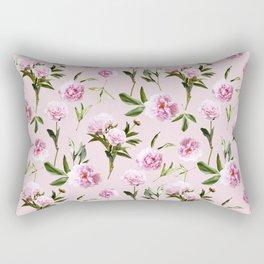 Peonies in Her Dreams - Pink Rectangular Pillow