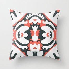 Squiggly Mandala Throw Pillow