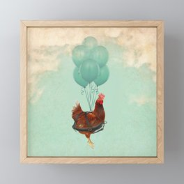 Chickens can't fly 02 Framed Mini Art Print