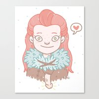 ygritte Canvas Prints featuring Ygritte by Stefie Zöhrer