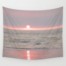 sunset on the beach II Wall Tapestry