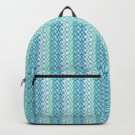 Abstract Fishing Net Loop Pattern Backpack