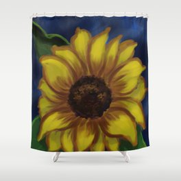 Dramatic Sunflower DP141118a Shower Curtain