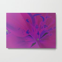 Star Gazer Lilly Up Close Solarized colors #2 Metal Print