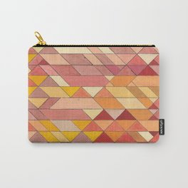 Triangle Pattern no.4 Warm Colors Red and Yellow Carry-All Pouch