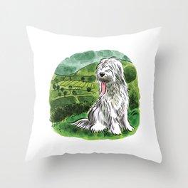Sheepdog Throw Pillow