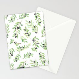Olive Branch Repeat Print Stationery Cards