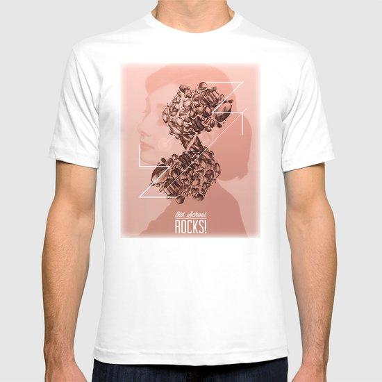 Old School Rocks! Audrey Hepburn Version T-shirt