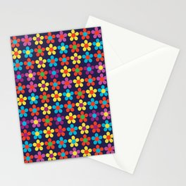 Bright Multi Colored Small Daisies Stationery Cards