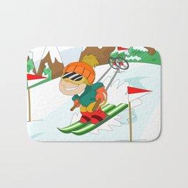 Winter Sports: Skiing Bath Mat