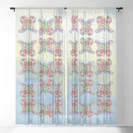 Butterfly Pizzazz Sheer Curtain