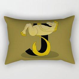 Pony Monogram Letter J Rectangular Pillow