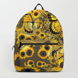 YELLOW MONARCH BUTTERFLY WORLD FLORALS Backpack