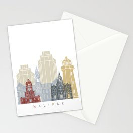 Halifax skyline poster Stationery Cards