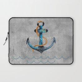 Maritime Design- Nautic Anchor Navy Marine Beach Laptop Sleeve