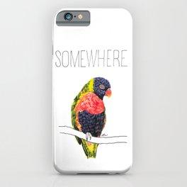Somewhere Over The Rainbow (Rainbow Lorikeet) iPhone Case
