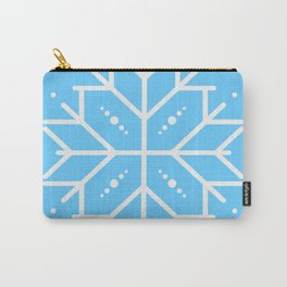 Snowflake - Blue Carry-All Pouch