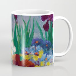 Floral Garden of Iris and Pansies Still Life Painting by Emil Nolde Coffee Mug