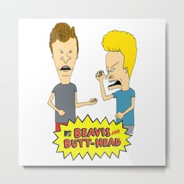 beavis and butthead Metal Print