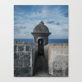 Fortification walls in Puerto Rico Canvas Print